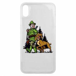 Чохол для iPhone Xs Max Мисливець з собакою