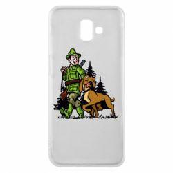 Чохол для Samsung J6 Plus 2018 Мисливець з собакою
