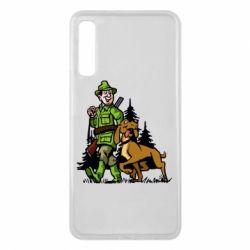 Чохол для Samsung A7 2018 Мисливець з собакою