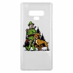 Чохол для Samsung Note 9 Мисливець з собакою