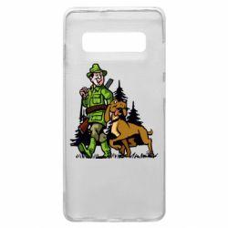 Чохол для Samsung S10+ Мисливець з собакою