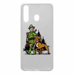 Чохол для Samsung A60 Мисливець з собакою