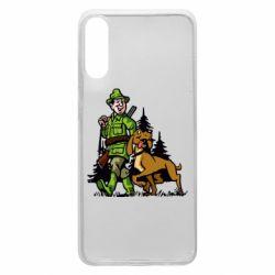 Чохол для Samsung A70 Мисливець з собакою