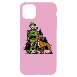 Чохол для iPhone 11 Мисливець з собакою