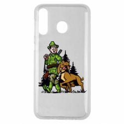 Чохол для Samsung M30 Мисливець з собакою