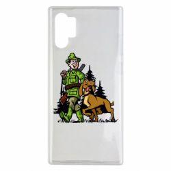Чохол для Samsung Note 10 Plus Мисливець з собакою