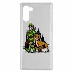 Чохол для Samsung Note 10 Мисливець з собакою