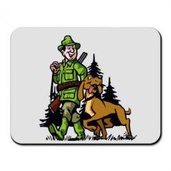 Коврик для мыши Охотник с собакой - FatLine