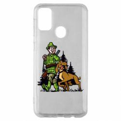 Чохол для Samsung M30s Мисливець з собакою