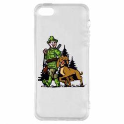 Чохол для iphone 5/5S/SE Мисливець з собакою