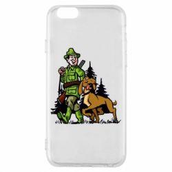 Чохол для iPhone 6/6S Мисливець з собакою