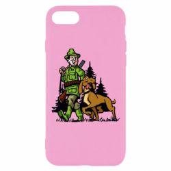 Чохол для iPhone 7 Мисливець з собакою
