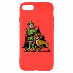 Чохол для iPhone 8 Мисливець з собакою