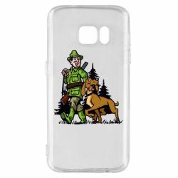 Чохол для Samsung S7 Мисливець з собакою