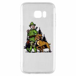 Чохол для Samsung S7 EDGE Мисливець з собакою