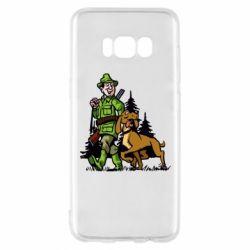 Чохол для Samsung S8 Мисливець з собакою
