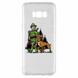 Чохол для Samsung S8+ Мисливець з собакою