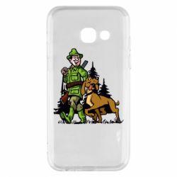 Чохол для Samsung A3 2017 Мисливець з собакою