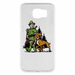 Чохол для Samsung S6 Мисливець з собакою