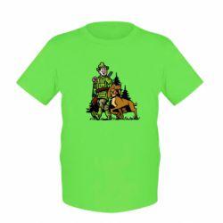 Детская футболка Охотник с собакой