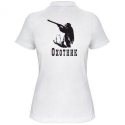 Женская футболка поло Охотник - FatLine