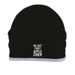 Шапка Ok, but first Apple Cider