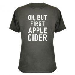 Камуфляжная футболка Ok, but first Apple Cider