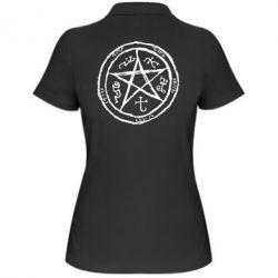 Женская футболка поло Оккультный символ Сверхъестественное - FatLine