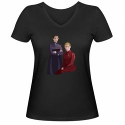 Жіноча футболка з V-подібним вирізом Old School Feminist