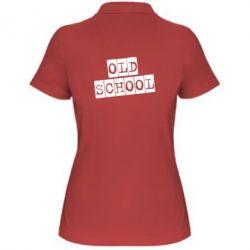 Женская футболка поло old school