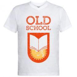Чоловіча футболка з V-подібним вирізом Old school