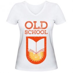 Жіноча футболка з V-подібним вирізом Old school