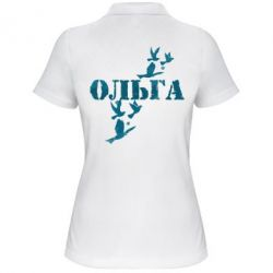 Женская футболка поло Ольга