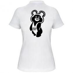 Женская футболка поло Олимпийский Мишка - FatLine