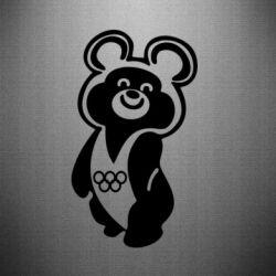 Наклейка Олимпийский Мишка - FatLine