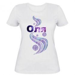 Женская футболка Оля
