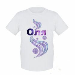 Детская футболка Оля