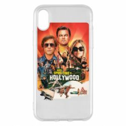 Чехол для iPhone X/Xs Once in Hollywood poster art