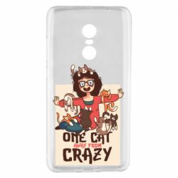 Чехол для Xiaomi Redmi Note 4 One cat away from crazy