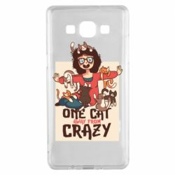Чехол для Samsung A5 2015 One cat away from crazy