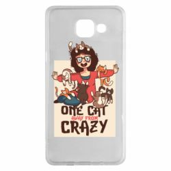 Чехол для Samsung A5 2016 One cat away from crazy