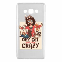 Чехол для Samsung A7 2015 One cat away from crazy
