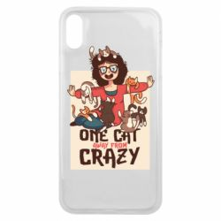 Чехол для iPhone Xs Max One cat away from crazy