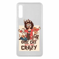 Чехол для Samsung A7 2018 One cat away from crazy