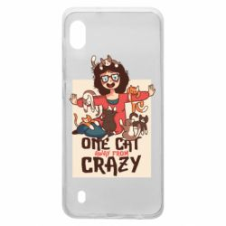Чехол для Samsung A10 One cat away from crazy