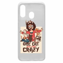 Чехол для Samsung A40 One cat away from crazy