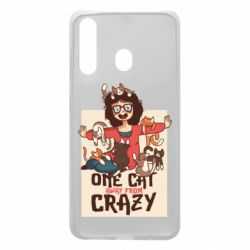 Чехол для Samsung A60 One cat away from crazy