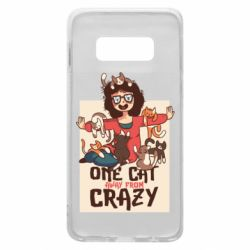 Чехол для Samsung S10e One cat away from crazy