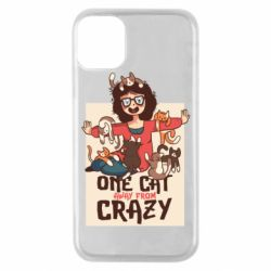 Чехол для iPhone 11 Pro One cat away from crazy