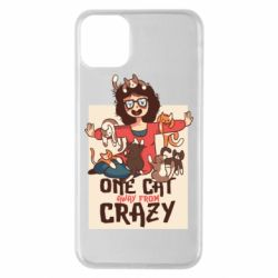 Чехол для iPhone 11 Pro Max One cat away from crazy